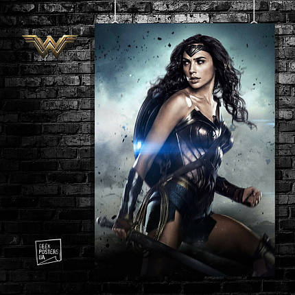 Постер Wonder Woman, Чудо-женщина. Размер 60x42см (A2). Глянцевая бумага, фото 2