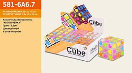 Кубик Рубика, размер куб 5,8 см, ЦЕНА ЗА УП., В УП. 6ШТ, в боксе.18*12*6см (48шт/2)