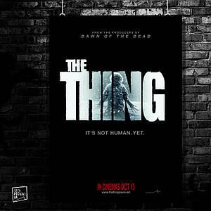 Постер The Thing, Нечто, ужасы (60x85см)