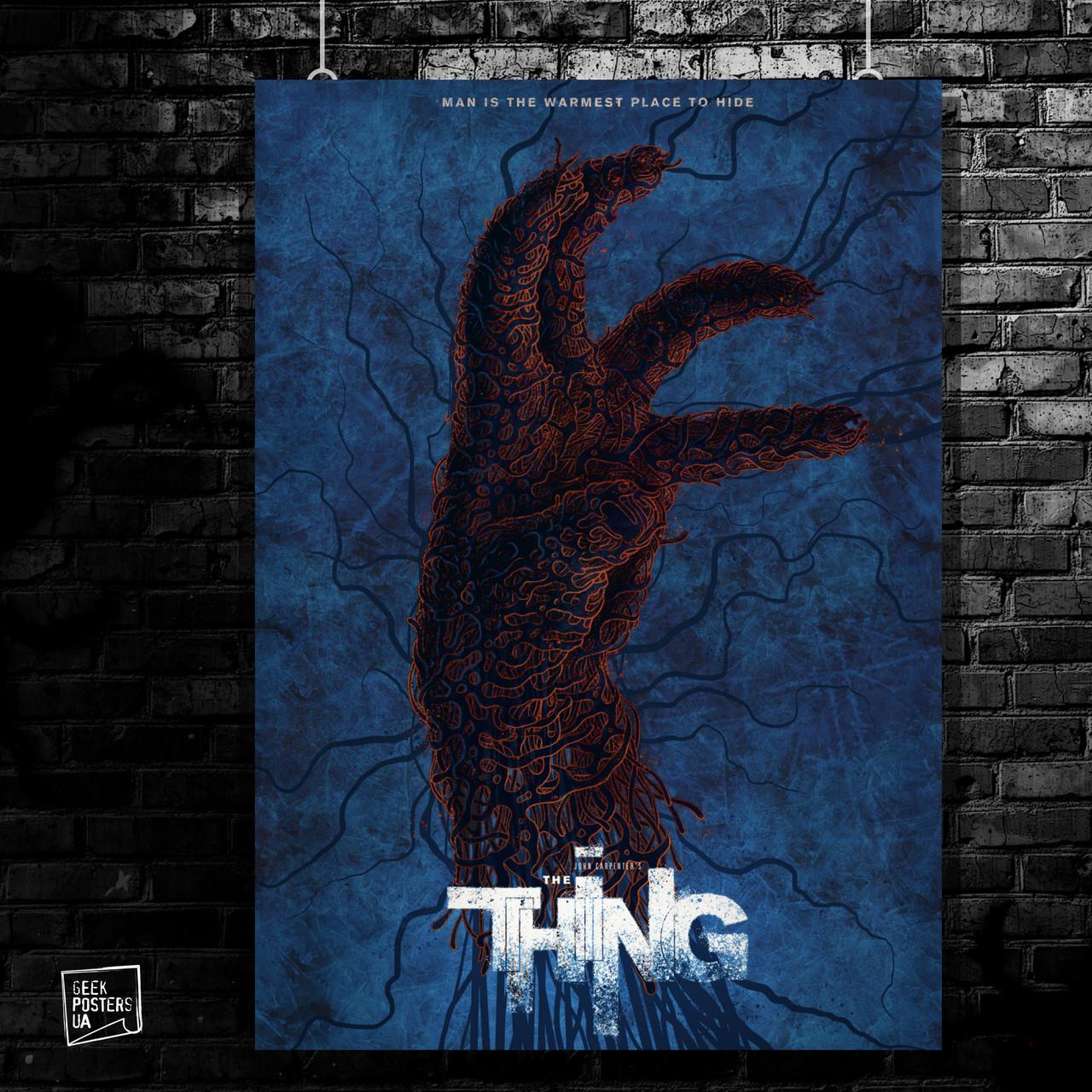 Постер The Thing, Нечто, ужасы, Карпентер. Размер 60x40см (A2). Глянцевая бумага