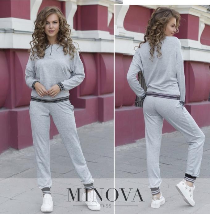 Лаконичный костюм повседневно-спортивного стиля норма недорого в интернет-магазине  Одесса Украина р. 42-48 aa3e83d276b