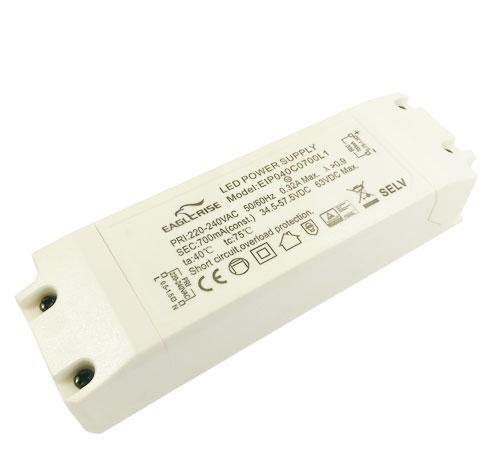 Блок питания драйвер светодиода 700мА 40Вт 34-57вольт EIP040C0700L1 EAGLERISE 7754