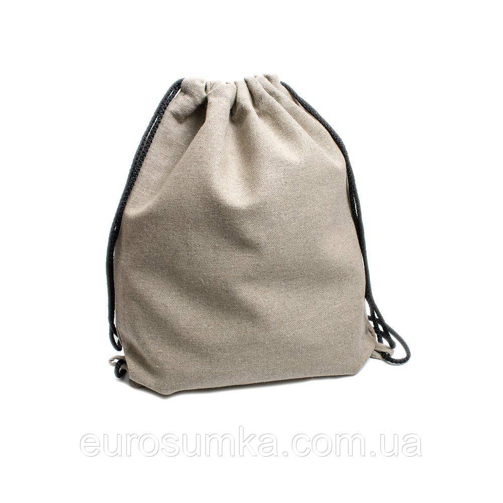 Рюкзак з льону з логотипом від 100 шт.