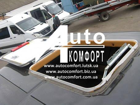 Люк автомобильный, металлический, 60х75, с аварийным выходом и полным открытием/закрытием, фото 2