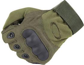 Тактические перчатки Oakley (Беспалый). - Khaki L (oakley-olive-L)