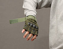 Тактические перчатки Oakley (Беспалый). - Khaki L (oakley-olive-L), фото 3
