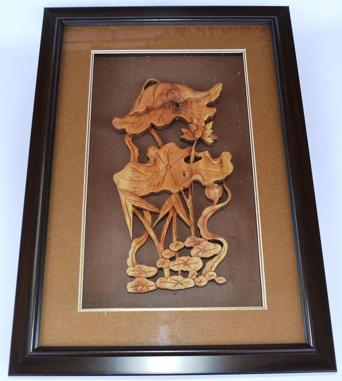 """Картина из сандалового дерева """"цветок"""""""