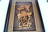 """Картина из сандалового дерева """"цветок"""" , фото 2"""