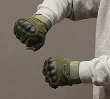 Тактические перчатки Oakley (Беспалый). - Khaki XL (oakley-olive-xl), фото 2