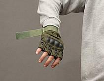 Тактические перчатки Oakley (Беспалый). - Khaki XL (oakley-olive-xl), фото 3