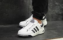 Мужские кроссовки Adidas ilie nastase,белые с черным 44, фото 3
