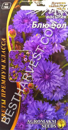 Семена цветов Василек «Блю бол» 1 г, фото 2