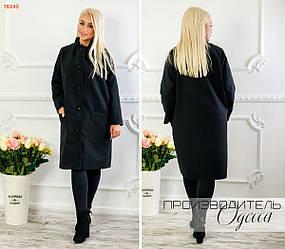 Пальто женское кашемировое на пуговицах