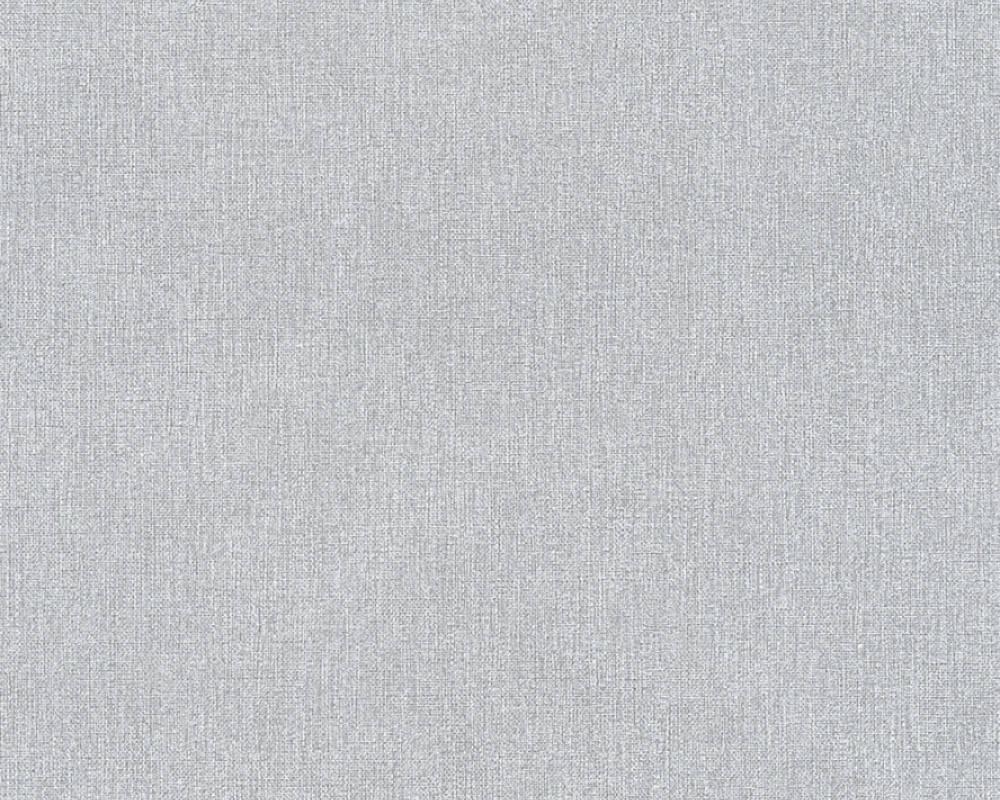 Моющиеся немецкие обои Elegance 361508 серого цвета со структурой под мешковину, виниловые на флизелиновой