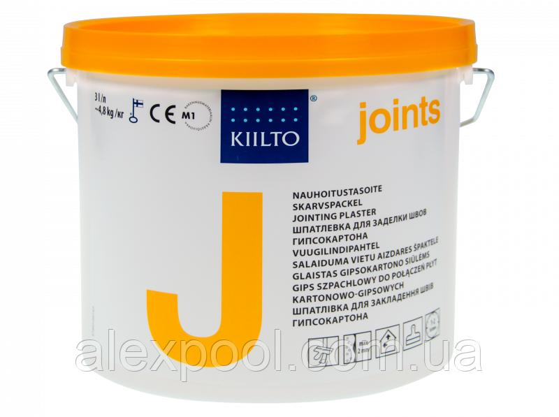 Шпаклівка Kiilto J 3 л. (4,8 кг) - для закладення швів гіпсокартону