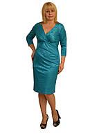 """Платье """"Оливия"""" электрик —м.1057 (46,54р) (ф) ткань как под фото."""