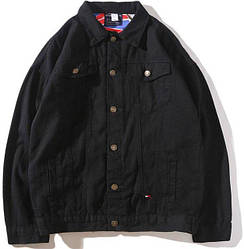 """Джинсовая куртка в стиле Tommy Hilfiger """"Black"""""""