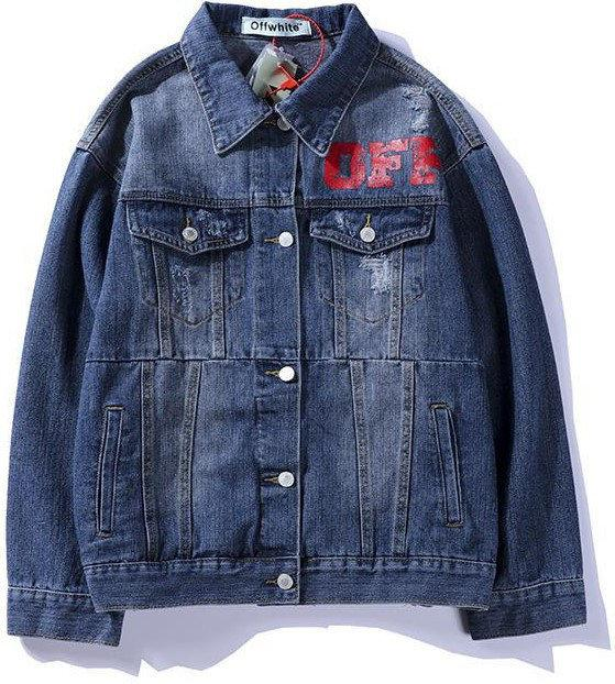 """Джинсовая куртка в стиле Off-White """"Dark Blue"""""""