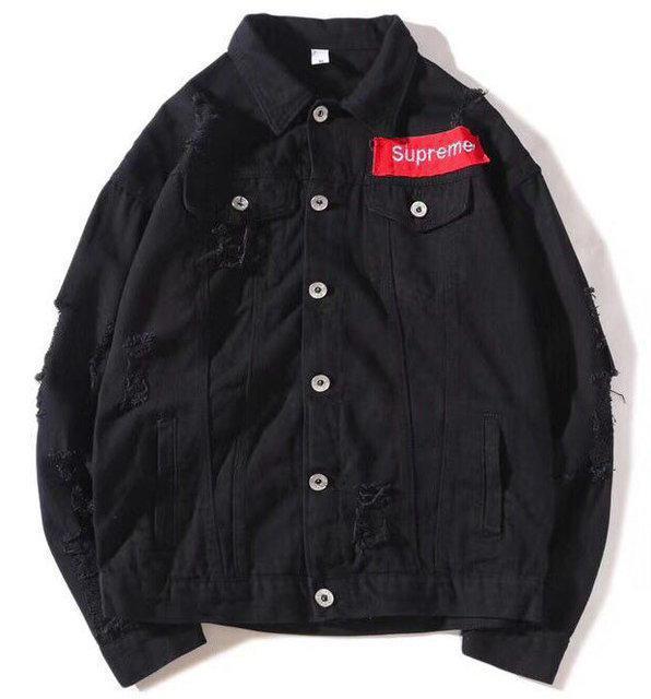 """Джинсовая куртка в стиле Supreme """"Black"""""""