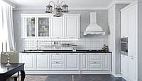 Классическая белая кухня с фрезерованными фасадами  INSTYLE