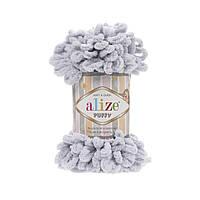 Пряжа Alize Puffy 416 светло серый