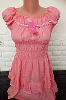 Женская летняя туника блузка хлопок