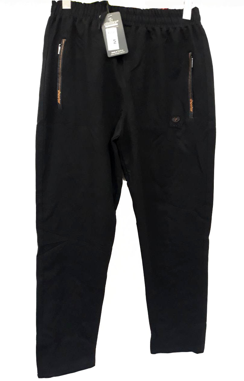Брюки мужские трикотажные Shooter модель 4208 черные спортивные штаны Шутер турецкого производства