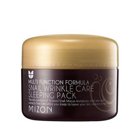 Улиточная ночная маска Mizon Snail Wrinkle Care Sleeping Pack 80 мл (121102), фото 2