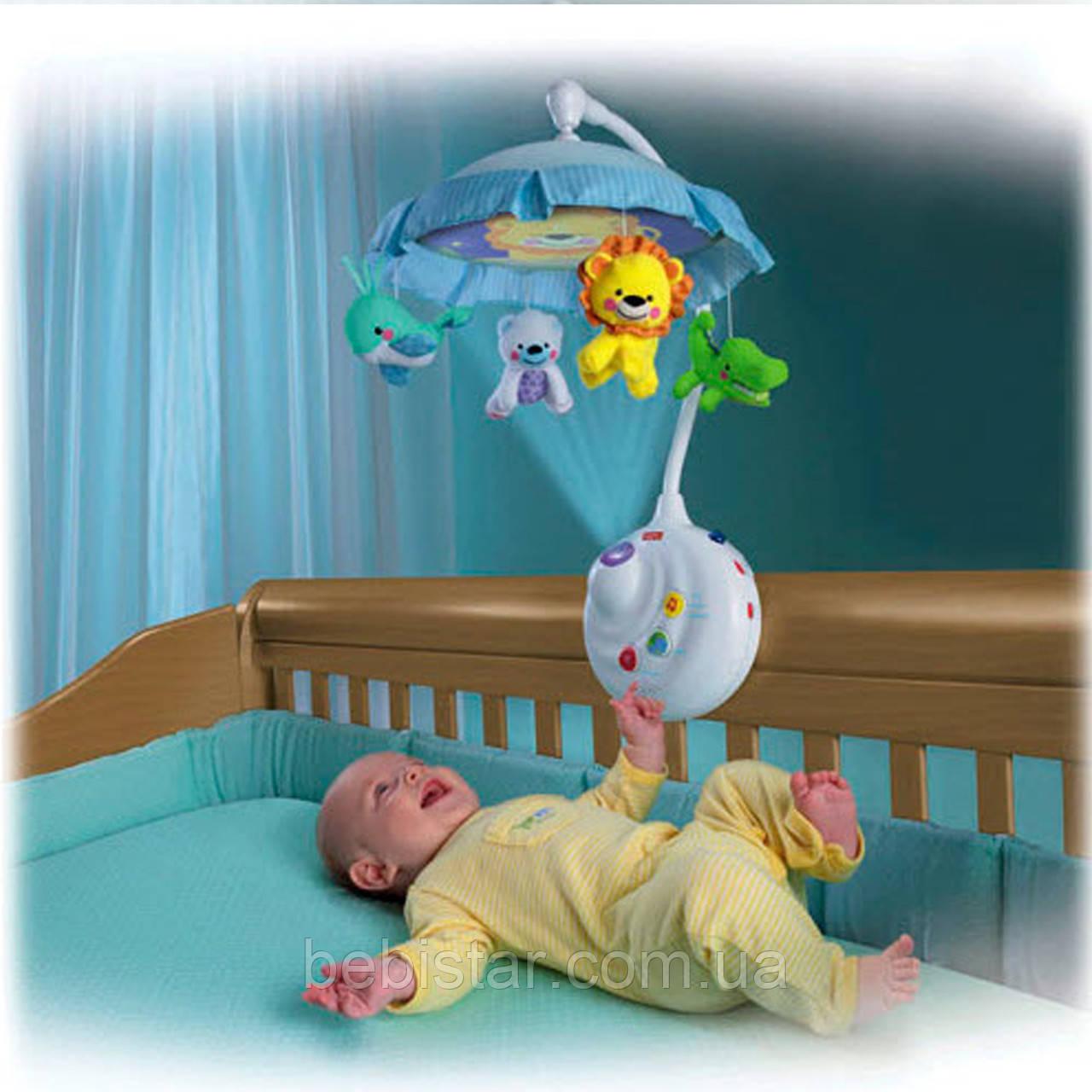 Карусель на кроватку PLAY SMART 7180 Умный малыш с подвеской-проектором