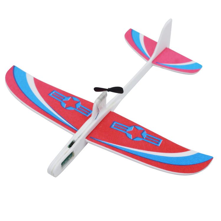 Ручной метательный самолетик SUNROZ с электромотором Красный (SUN1703)