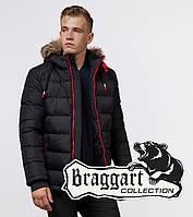 Пуховик зимний мужской Braggart Aggressive - 38268 черный-красный, фото 1