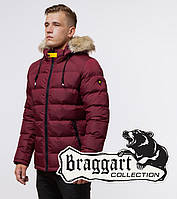 Модная мужская куртка Braggart Aggressive - 38268 бордовый-черный, фото 1