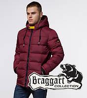 Мужская куртка спортивная Braggart Aggressive - 10168 бордово-черный