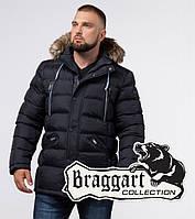 Зимняя мужская куртка с опушкой Braggart Aggressive - 21226 темно-синий, фото 1