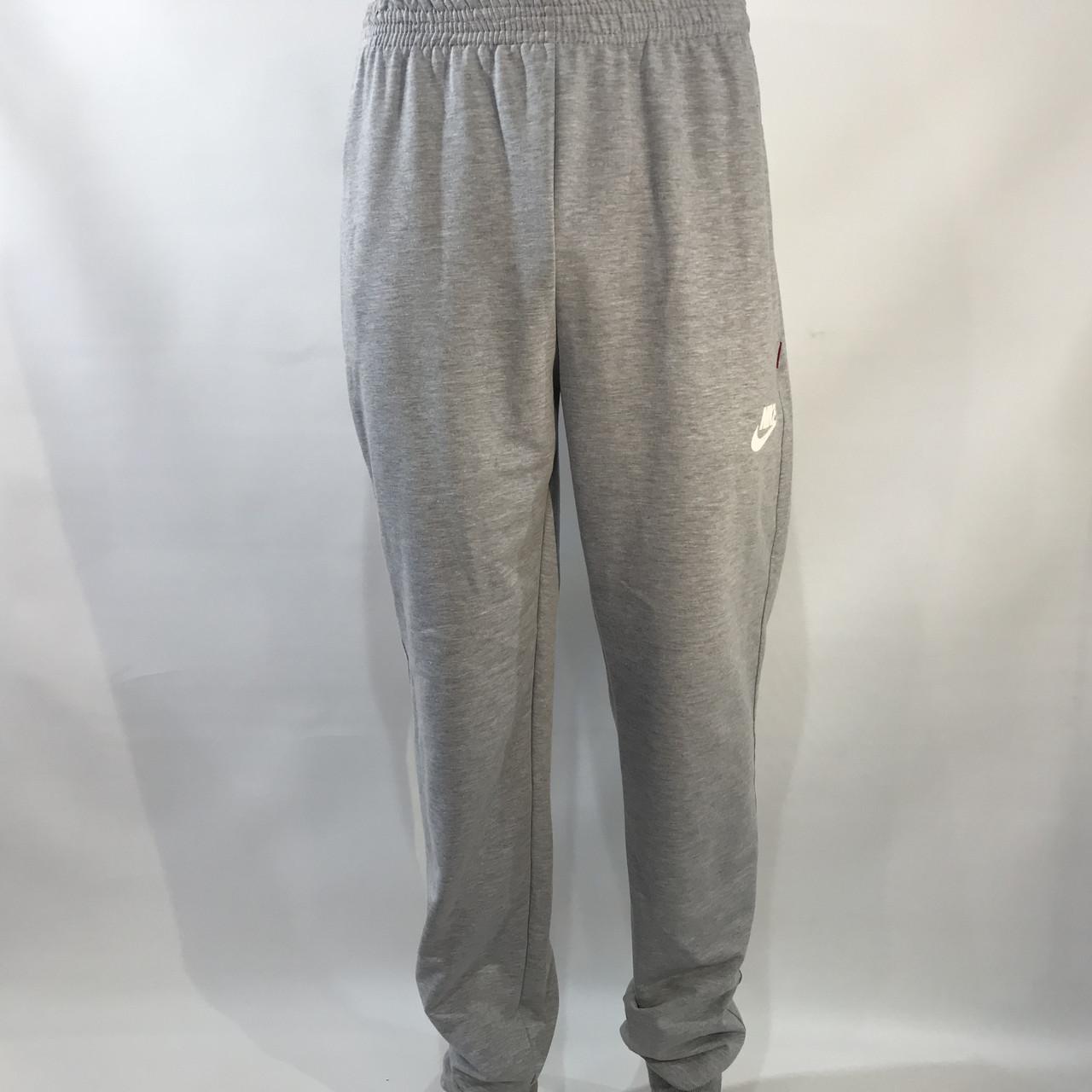 Спортивные штаны Nike под манжет / трикотажные / светло-серые 46-54 р.