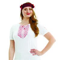 Женская футболка. Мережка вышитый рукав., фото 1