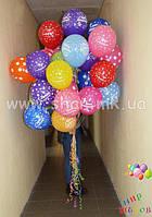 """Гелиевые шары с надписью """"С днём рождения"""""""