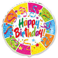 """Фольгированный шар с надписью""""Happy birthday"""""""