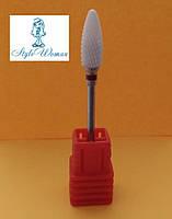 Керамическая фреза насадка для фрезера конус кукуруза красная, фото 1