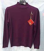 Гольф женский стойка большой размер 718 (50/56 универсал) (цвет баклажан) Фабричный Китай СП
