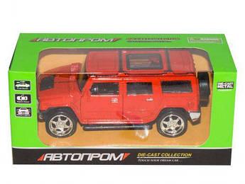 """Машинка """"Hummer H2"""" из серии """"Автопром"""" (красная) 7798"""