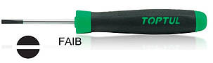 Викрутка прецизійна SL0.5x3x50(L1)мм TOPTUL FAIB0305, фото 2