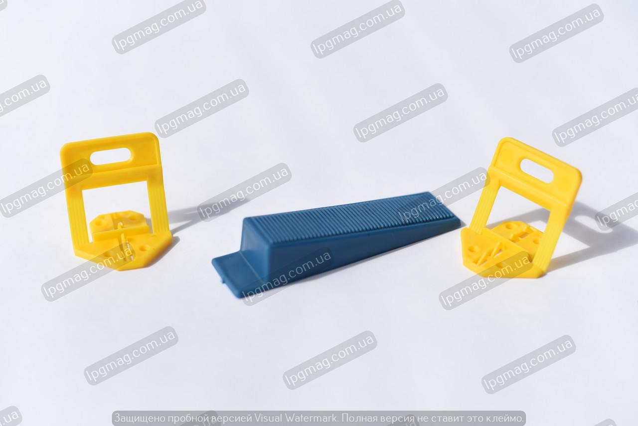 Аналог системы выравнивания плитки DLS (0.8 мм) (основа 100 шт)