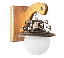 "Люстра из дерева ""Сатурн"" светлый дуб на 5 ламп, фото 3"