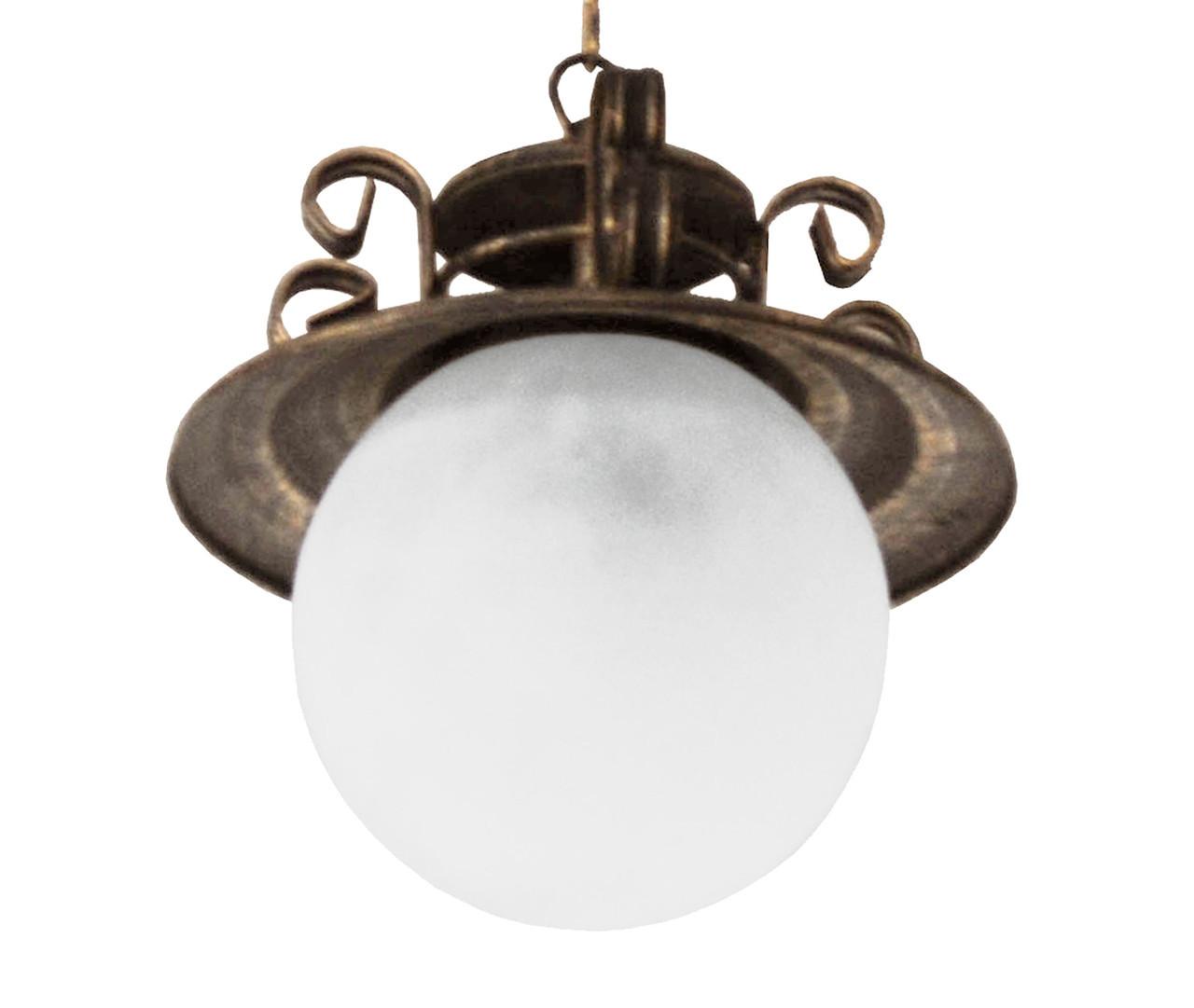 "Подвес  лофт  ""Сатурн "" старая бронза"" на 1 лампу"