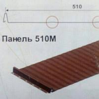 """Кровельная фальцевая панель """"Retroline 510 М"""" 0.5 мм , RR 023"""