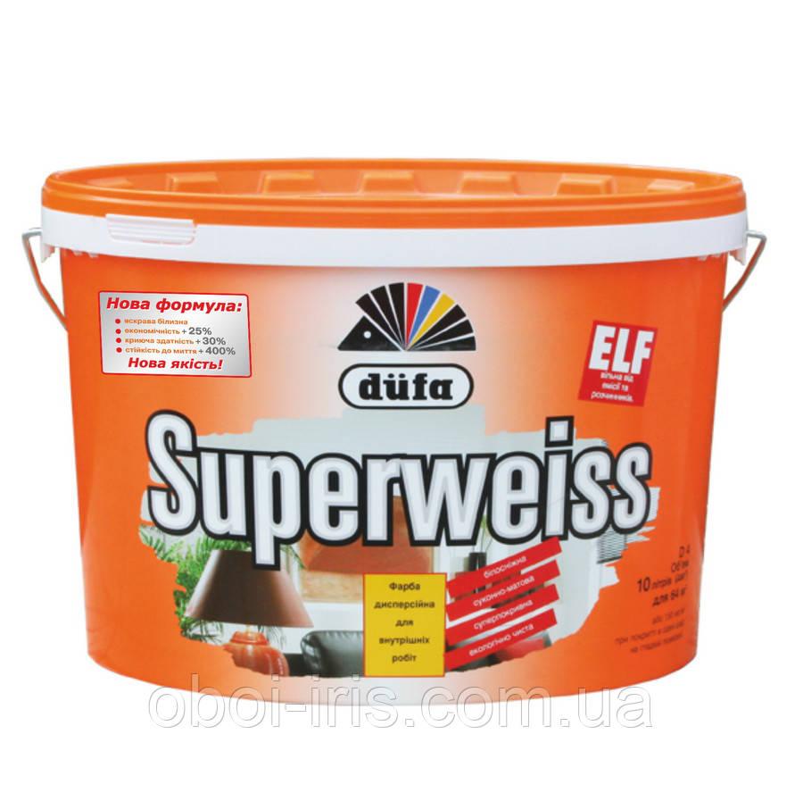 D4 Superweiss краска сверхстойкая виниловая для внутренних работ Dufa