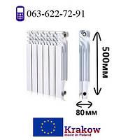 Радиатор алюминиевый для отопления 500х80 (KRAKOW)