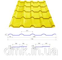 Сталекс Металлочерепица AFINA 350/15 0,45*1185 PE RAL 1003 Сировина Optima Steel