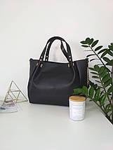 ee9bf43e5751 Сумка модная женская черная гладкая, женские сумки оптом - Цена 420 ...